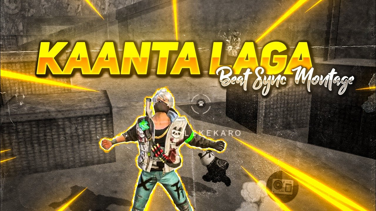 FREE FIRE BEST EDITED BEAT SYNC MONTAGE    KAANTA LAGA BEAT SYNC MONTAGE    BY GAMERS KA HEADQUARTER