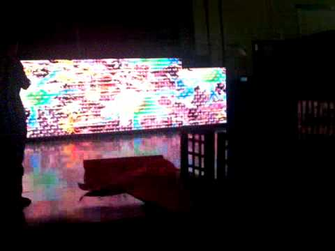 TEST KINETIC ART ON LED SCREEN - NEAL GOLDEN ART TEST (SHANGHAI)