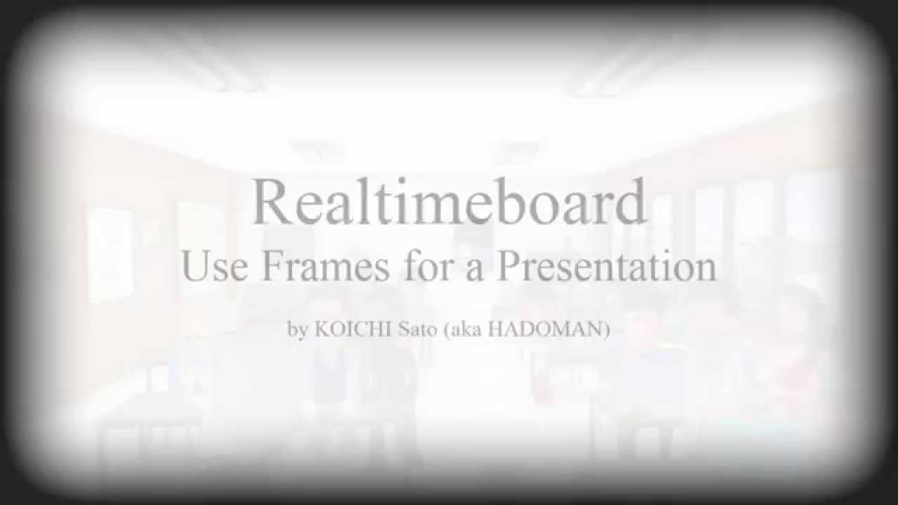 Realtimeboard - Use Frame for a Presentation - YouTube