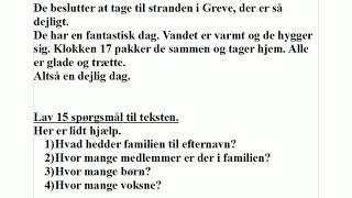Lær mere dansk med Jette, lektion 50, spørgsmål til en tekst