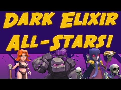 Clash of Clans: The BEST Dark Elixir Troops Attack! Golem Valkyrie Witch