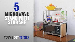 Top 10 Microwave Stand With Storage [2018]: Shag Space Saver Double Design Microwave Oven Stand