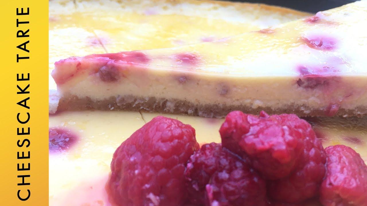 Thermomix Cheesecake Tarte Mit Himbeeren Kasekuchen Youtube