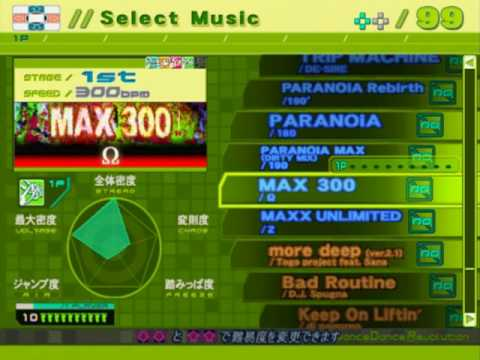 DDR EXTREME PS2 (JP) - FULL Song list Line Record