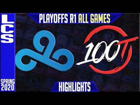 C9 vs 100 Highlights ALL GAMES   LCS Spring 2020 Playoffs Round 1   Cloud9 vs 100 Thieves