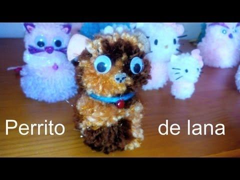 Como hacer un perro de lana youtube for Manualidades para ninos con lana