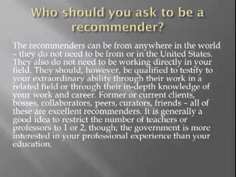 O-1 Visa Attorney Provides an Overview of an O-1 Recommendation Letter