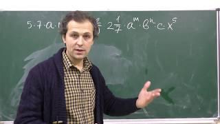 Алгебра 7. Урок 2 - Одночлены