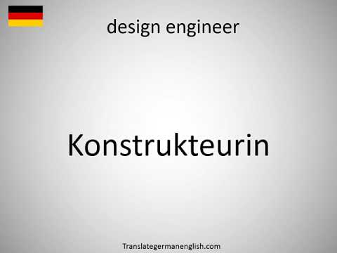 How to say design engineer in German? (Konstrukteurin)