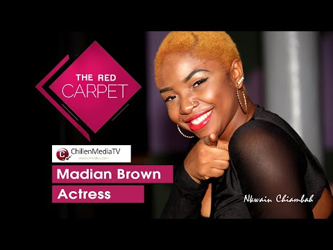 Madian Brown On The Red Carpet CMTV | Wasted Years Movie Premier.
