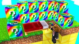 MINECRAFT RAINBOW LUCKY BLOCK BED WARS - LUCKY BLOCK MODDED MINIGAMES | JeromeASF