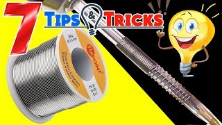 7 AMAZING Tips & Tricks with TIN for Soldering