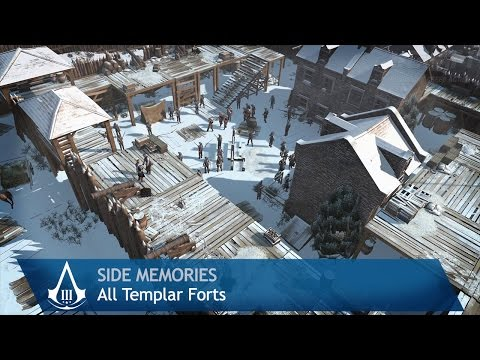 Assassin S Creed 3 Side Memories All Templar Forts Youtube