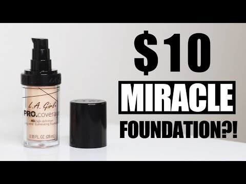 LA GIRL PRO COVERAGE HD FOUNDATION First Impressions + Full Review | Anna L