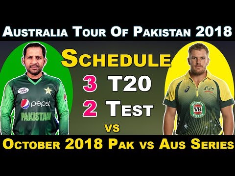 October 2018 - Australia vs Pakistan in UAE 2018 Schedule , Fixture , Venue , Date and Time Table thumbnail