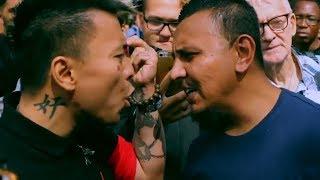 Tan vs Guy who blew smoke on his face | Speakers Corner