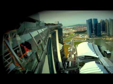 Marina Bay Sands Skypark BASE Jump. Singapore 2012.mp4