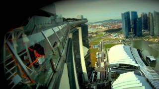 Marina Bay Sands Skypark BASE Jump. Singapore 2012.mp4
