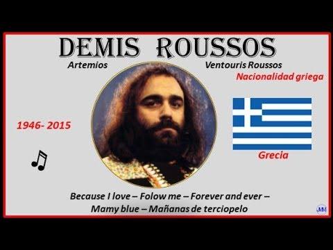 Demis Roussos (1946-2015) Alejandría(es Griego) Because I Love-Folow Me-Forever And  Ever-Mamy Blue