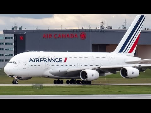 *Diversion* Air France Airbus A380-800 (A388) landing & departing Montreal (YUL/CYUL)