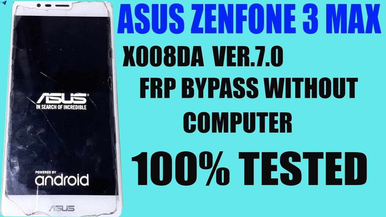 Asus zenfone 3 max frp bypass without pc : LightTube