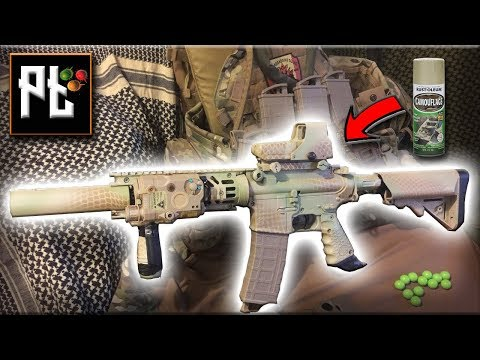 Magfed Paintball - How To Paint A Paintball Marker Quickly