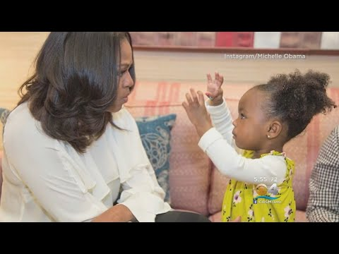 Child In Awe Of Michelle Obama Portrait Gets Special Visit With Former First Lady