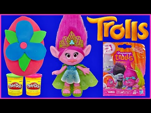 TROLLS MOVIE Play-Doh Surprise Eggs, NEW Figures and Blind Bags Princess Poppy Branch Harper DJ Suki