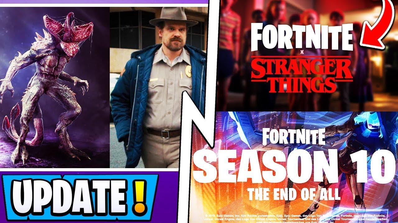 *NEW* Fortnite   Season 10 Visual Update, Stranger Things Skins, Secret  Reward!