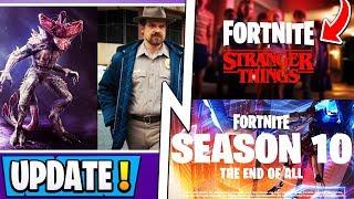 *NEW* Fortnite | Season 10 Visual Update, Stranger Things Skins, Secret Reward!