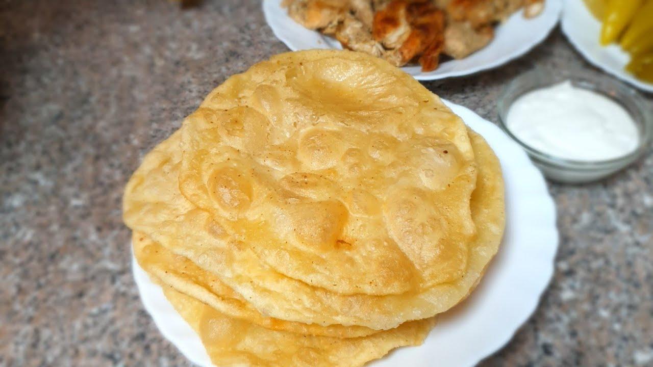 خبز البوري نفس خبز تكا Puri Bread Youtube