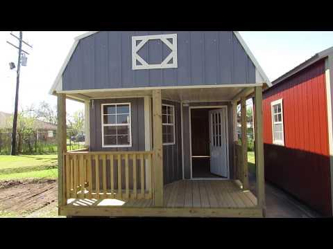 New Derksen 12X32 Z-Metal Deluxe Lofted Barn Cabin