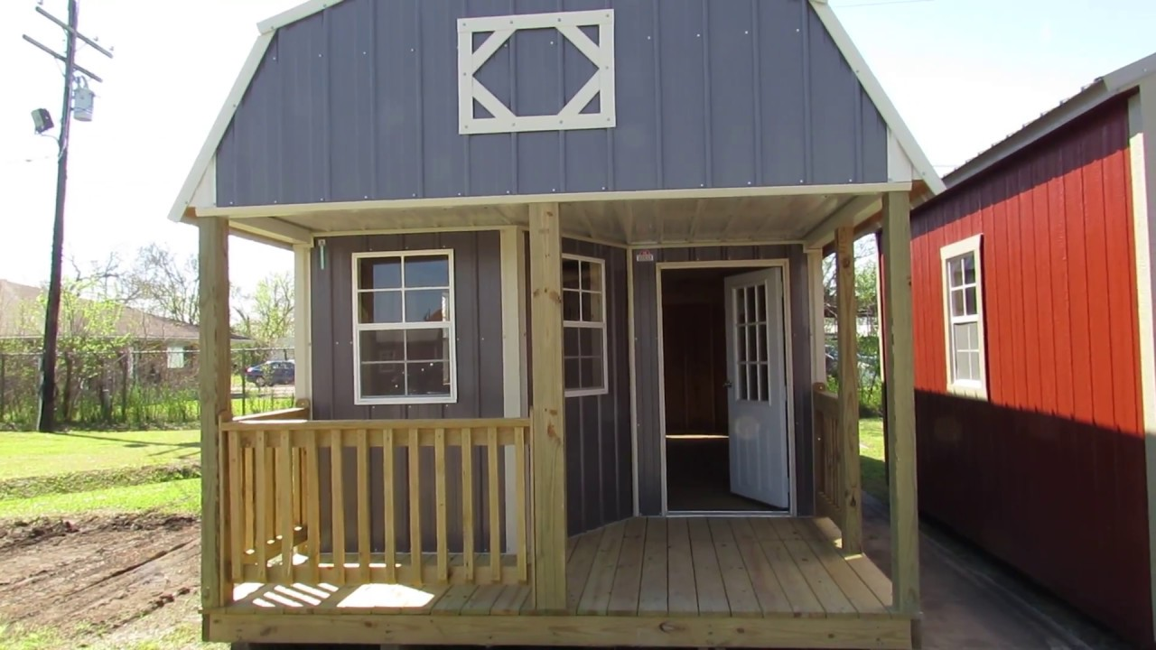 New Derksen 12X32 Z-Metal Deluxe Lofted Barn Cabin