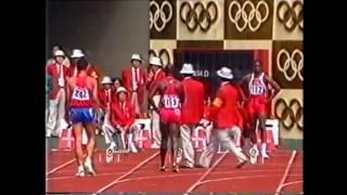 1988 Olympics 100m Semifinal 2, Seoul, South Korea