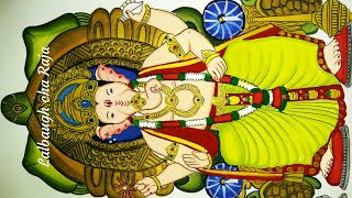 Ganesh chaturthi special Lalbaugh cha Raja with tortoise theme drawing and painting