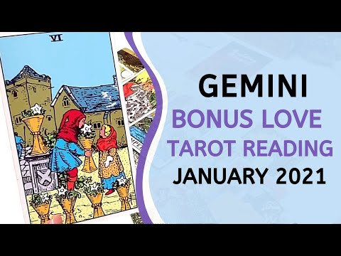 GEMINI BONUS ❤️ Surprise Visitor 😮 & Sweet Romance! 🥰 ~ Love Tarot Reading January 2021