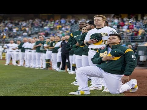 Bruce Maxwell Becomes First MLB Player To #TakeAKnee During The National Anthem
