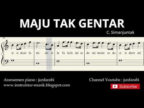 not balok maju tak gentar - lagu wajib nasional - doremi / solmisasi