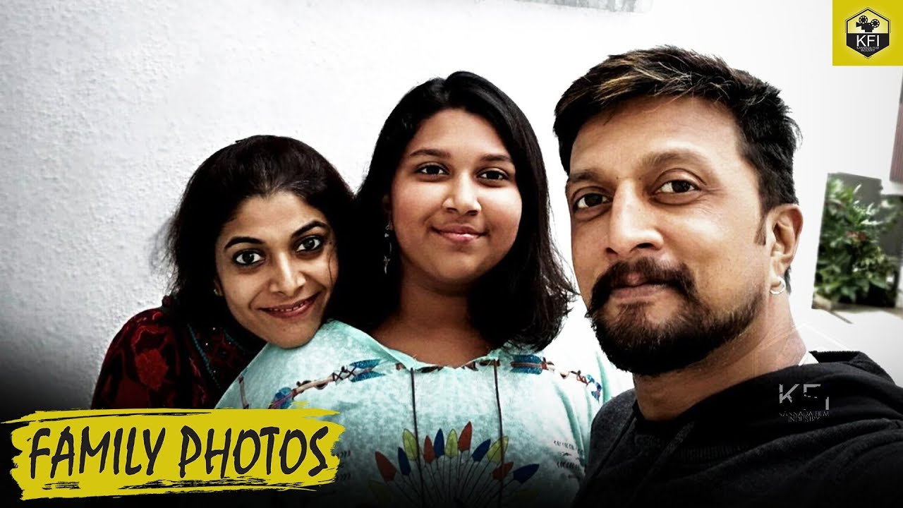 Sudeep Family Photos - Latest Video | Kiccha Sudeep Wife & Daughter |  Sandalwood Actors Family Video