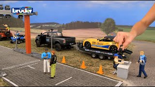 Bruder Toys RAM 2500 Power Pick Up w/ Roadster Racing Team #02504