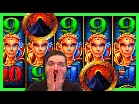 MASSIVE WIN! Treasures Of Atlantis Slot Machine Bonuses With SDGuy! (Pompeii Clone)