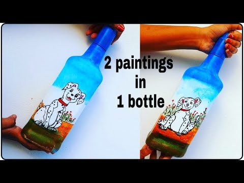 quick-and-easy-bottle-art-|-1-bottle-2-painting-ideas-|-bottle-art-|-easy-bottle-painting-|-diy-art