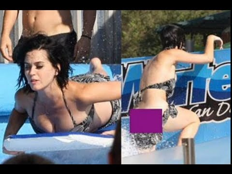 katy perry has swimsuit malfunction at waterpark and her