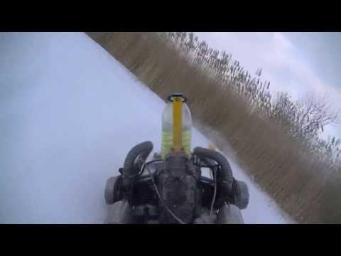 видео: Самодельный снегоход Т-4 (мотобуксировщик)