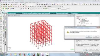 Repeat youtube video STAAD PRO - Analysis and design of multistory building