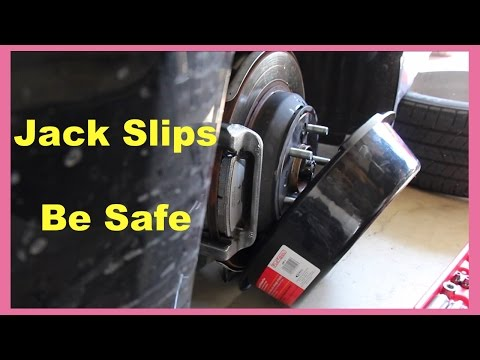 Car's Jack Slips, what not to do, Be safe (Home Mechanics)