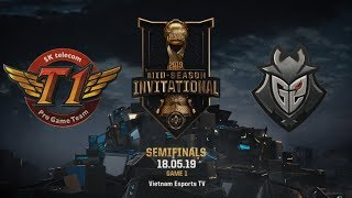 SKT vs G2  [HighLights MSI 2019] [18.05.2019] [Semifinals] [Game 1]