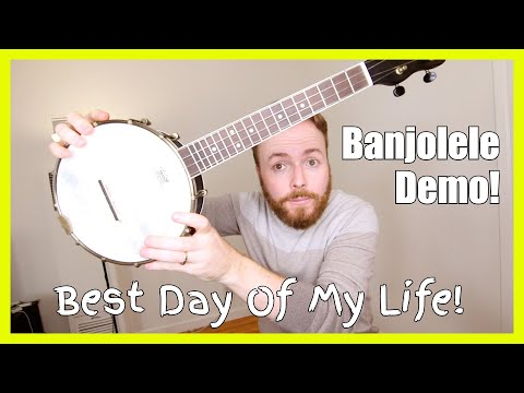 BEST DAY OF MY LIFE (AMERICAN AUTHORS) - BANJOLELE DEMO!