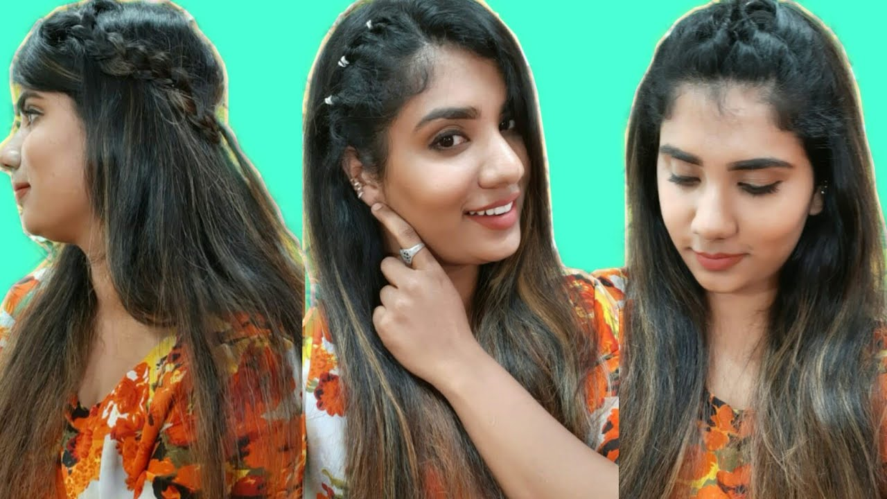 Beautiful Self Hairstyles For Girls||For Long, Medium,Short Hair||Simple Office & College ...