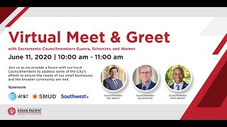 Virtual Meet & Greet with Sacramento Councilmembers Guerra, Schenirer, and Warren